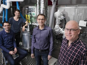 The research team behind the new biofuels method. From left to right Assistant Professor Martin Høj, the author of this article. Martin is taking part in the Book a Researcher program as part of the Danish Science Festival, 2018, and is available to talk on this subject throughout the festival. PhD student Magnus Stummann, Professor Anker Degn Jensen, and Senior Scientist Peter Arendt Jensen. (Photo: Thorkild Christensen)