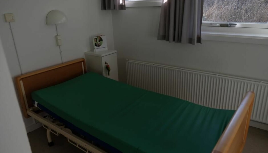 An empty bed at the Glostrop Psychiatric Centre in Denmark awaiting a patient to admit themselves. (Photo: Marie Barse)