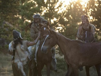 Reconstruction of the first hunter-gatherers thought to have domesticated horses in the Stone Age. (Photo: Niobe Thompson)