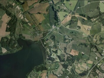 Alken Enge wetland extends east of Lake Mossø in East Jutland. (Map: Archaeological IT, Aarhus University)