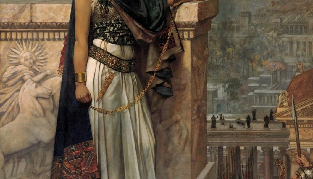 Queen Zenobia's Last Look upon Palmyra by Herbert Gustave Schmalz, 1888. (Credit: Wikipedia)