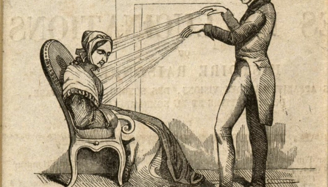 One of the more spectacular unorthodox ways of healing in the 19th century was mesmerism, where the healer used either magnets or his own 'animal magnetism.' (Illustration: Welcome Collection)