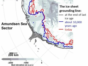 The Ice Sheet Grounding Line at the end of the last Ice Age; about 10,000 years ago; and today. (Credit: Jonathan Kingslake of Columbia University's Lamont-Doherty Earth Observatory. Author Provided)