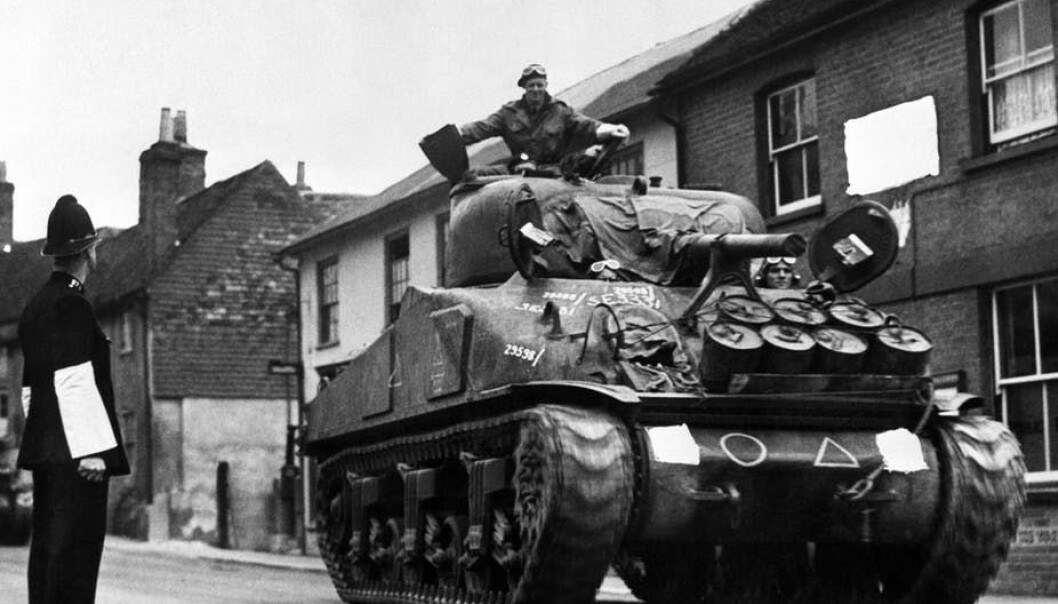 A tank on its way to port for the Normandy landings in 1944. (Photo: PA Archive)
