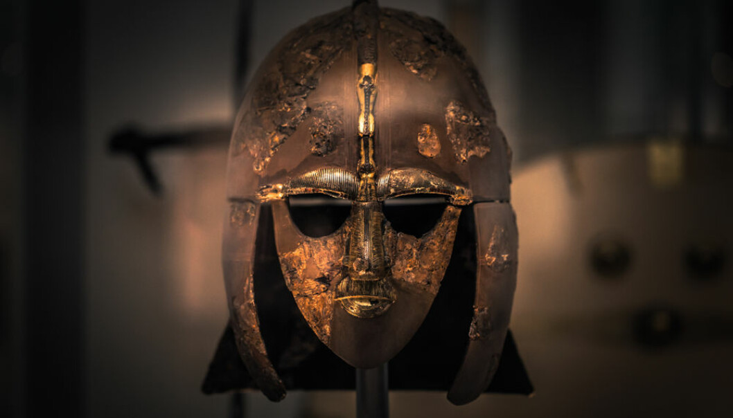An Anglo-Saxon helmet from the British Museum in London. Was the warrior who owned this helmet the descendant of a more terrifying and brutal invasion than the Vikings? (Photo: Shutterstock)