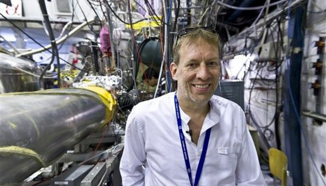 Jeffrey Hangst, of Aarhus University, has every reason to be happy after his research group managed to create a quantum leap in antihydrogen. (Photo: Niels Madsen)