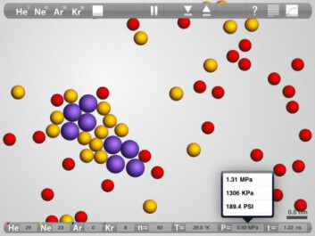 Budding chemists can push atoms around with the 'Atoms in Motion' app, while learning about the movements of the world's tiny building blocks. (Screenshot: Atoms in Motion LLC)