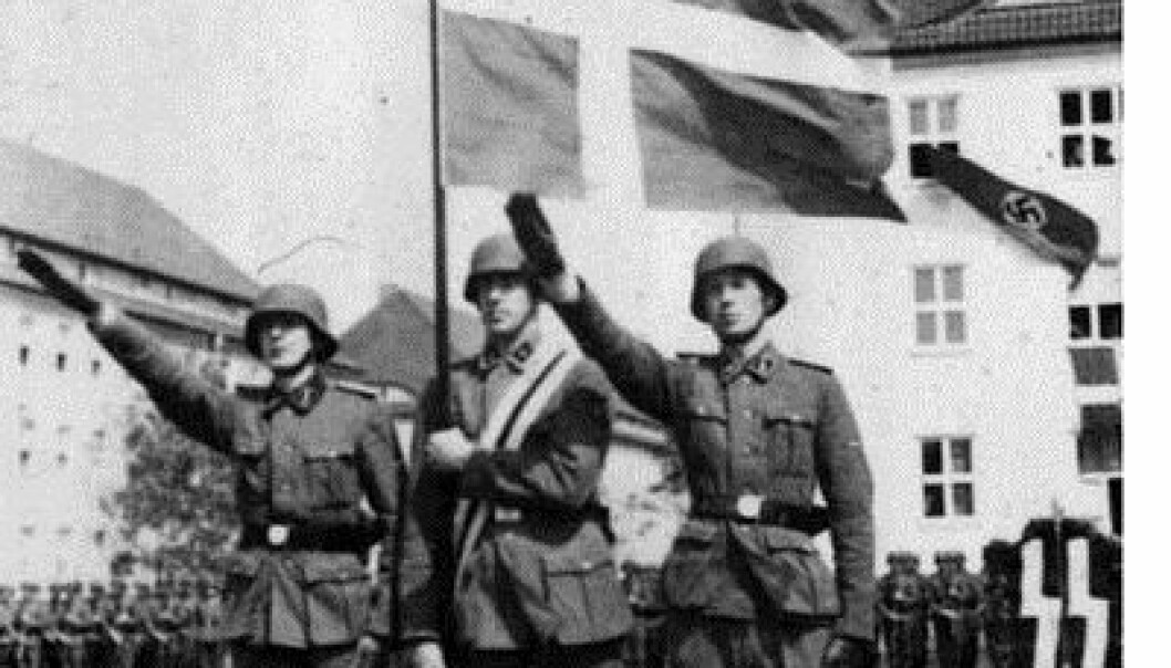 Danish volunteers make an oath to fight for the Germans (Photo: German Federal Archive)