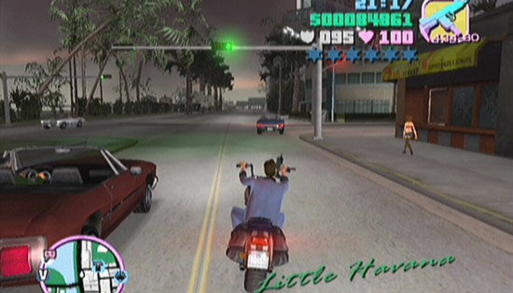 The new contemporary novel is not a book, but rather a computer game like 'Grand Theft Auto', says researcher Bo Kampmann Walther. (Photo: screenshot from the game)