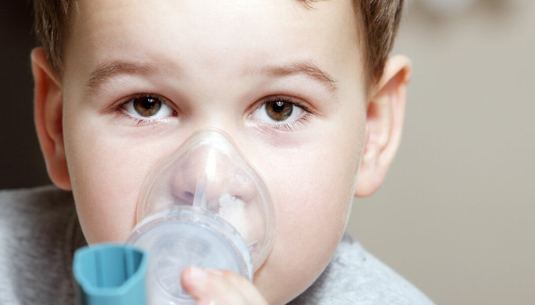Air pollution affects children in particular because they have a higher respiration rate than adults and thus inhale more pollution. Three children are hospitalised every day on average because of severe asthma attacks. (Photo: Colourbox)