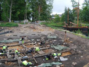 Excavation site beside Göta channel. (Photo: Fredrik Hallgren)