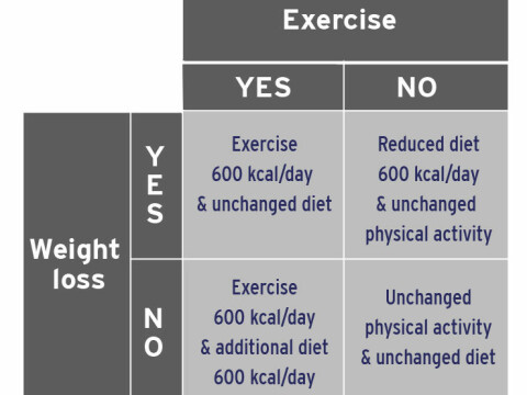 Exercise better for health than dietary changes