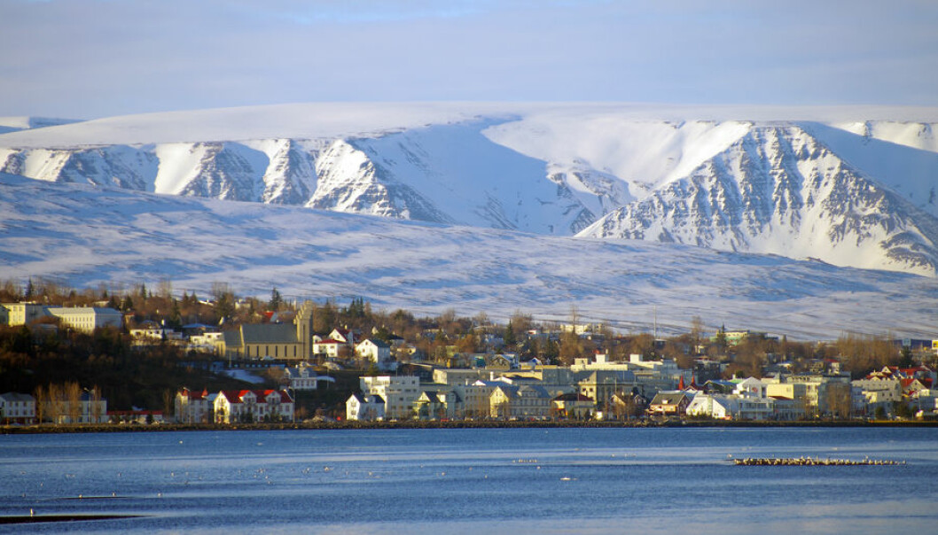 Akureiri in winter. Through a variety of initiatives the Islandic town has reduced its carbon footprint to a minimum. (Photo: Shutterstock)