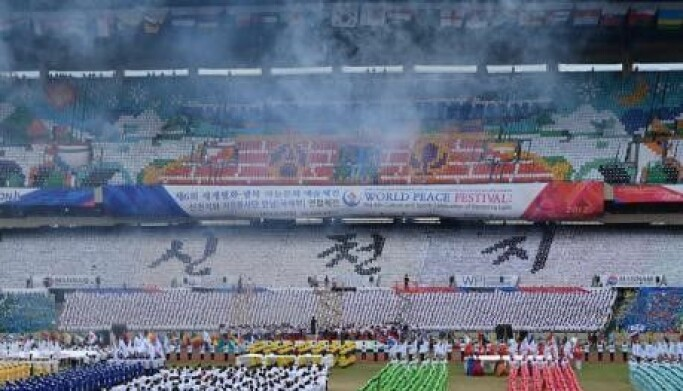 The Christian group Shincheonji holds a 'peace festival' in South Korea in 2012.