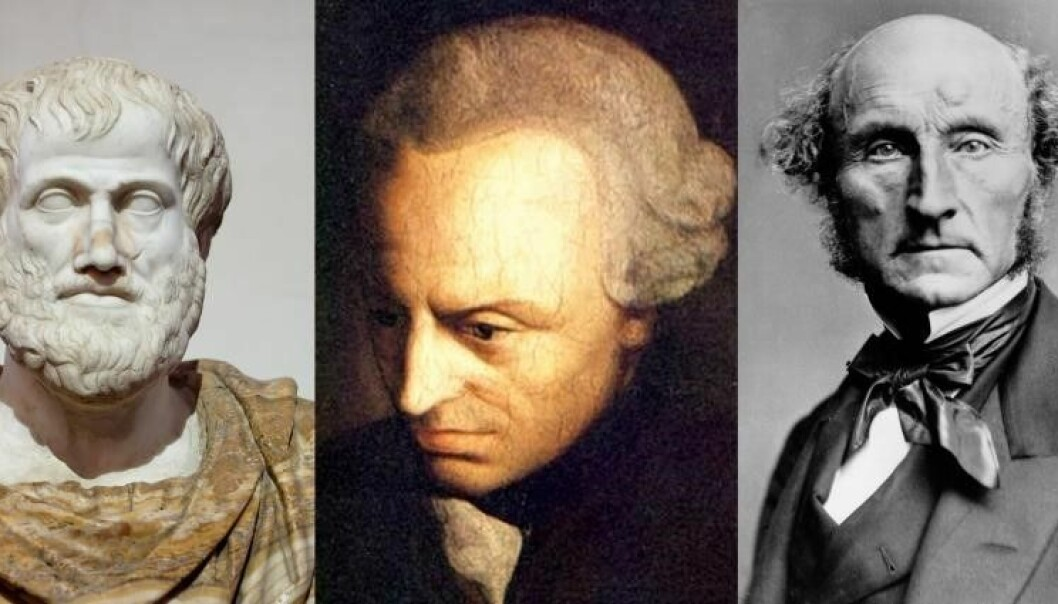 Aristoteles, Kant and John Stuart Mill developed different moral theories. Concrete moral questions can be analysed in accordance with different theories. It is then up to each one of us to decide how to act.