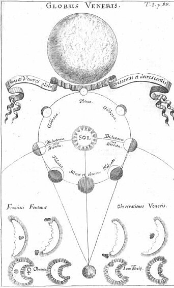 Image from 1696 with the Venus moon indicated underneath.