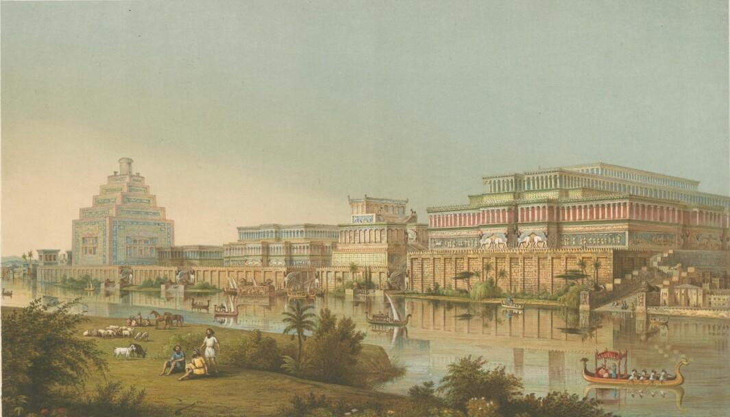 An imaginary reconstruction of the royal city Kalhu/Nimrud.
