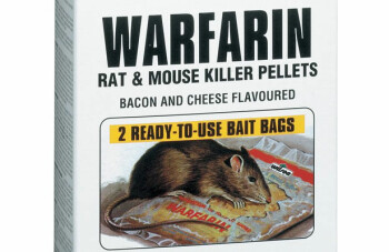 Warfarin is used both to kill rats and mice and as an anticoagulant. This is the rat-killing version.