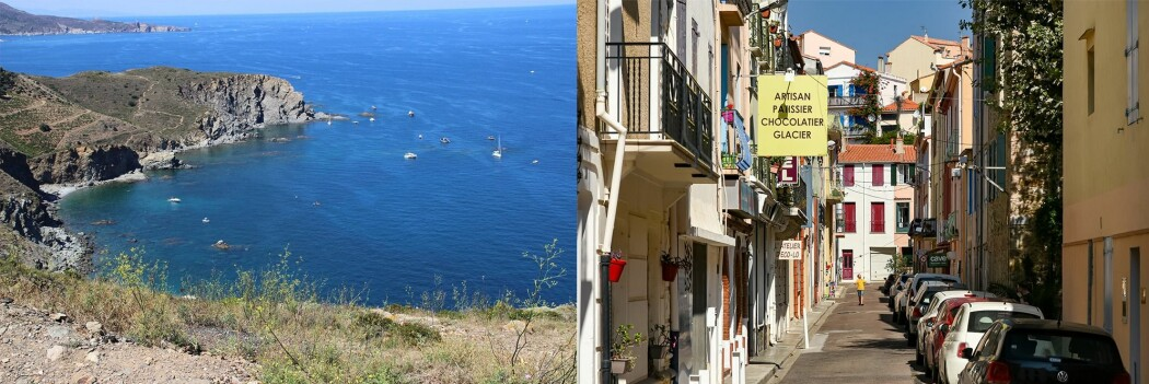 Example of Flickr photos from the Cerbère-Banyuls marine reserve and from the adjacent control area . In this case, a town is a common feature in this control area; it turns out that it is often the case that the built environment is the focus of photos in control areas.